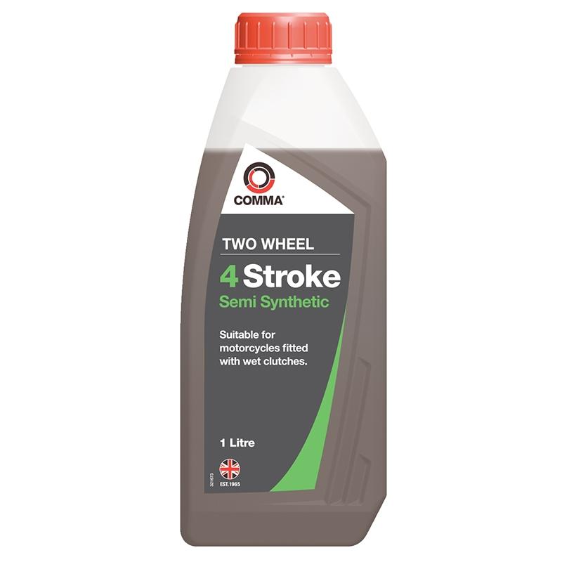 Масло моторное полусинтетическое TWO WHEEL 4 STROKE SEMI SYNTHETIC 10W-40, 1л